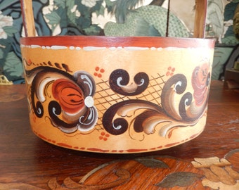 ROSMALING HAND PAINTED Basket
