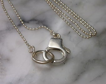 Pendant necklace ball chain Charm handcuffs Lily Ring