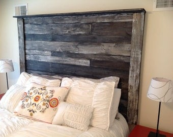 wood headboard  etsy, Headboard designs