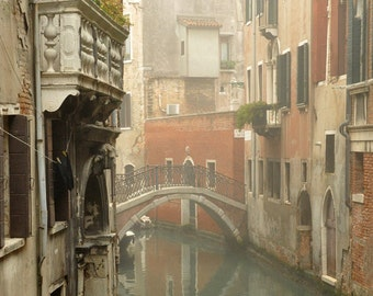 Venice Photography, Canal, Bridge, Architecture, Classic, Water, Windows, Travel Photography, Italy Print, Europe Photo, Vertical Print