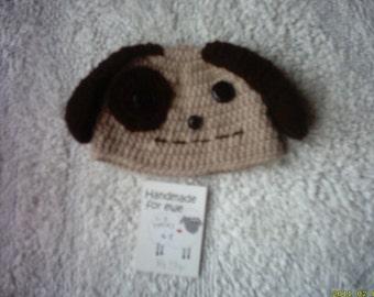 newborn girl dog hat, photo prop baby hat, newborn boy dog hat, crochet dog hat, Crochet baby hat, baby dog hat, newborn dog hat,