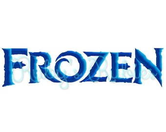 Frozen Machine Embroidery Font
