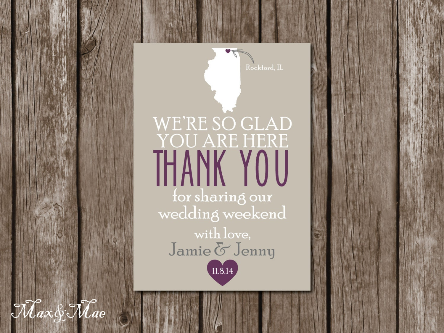 Thank You Letter For Wedding Guests: Wedding Thank You Card Wedding Card For Hotel Guests Wedding