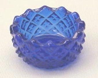 Salt Cellar Hobnail in Cobalt Blue