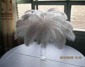 150pcs12-14inch White ostrich feathers,wedding table centerpiece,wedding table decoration,ostrich centerpiece,ostrich feather centerpiece