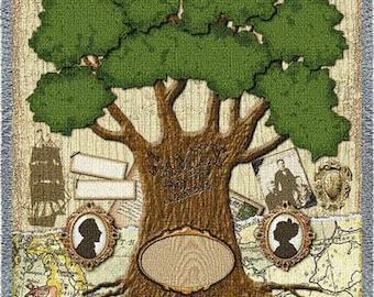 Family Tree Quilt - The Family Tree Blanket Personalized
