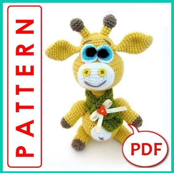 Giraffe George Amigurumi : George the Giraffe Crochet toy Amigurumi pattern PDF
