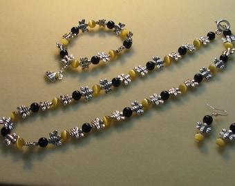 Bumble Bee Jewelry Set