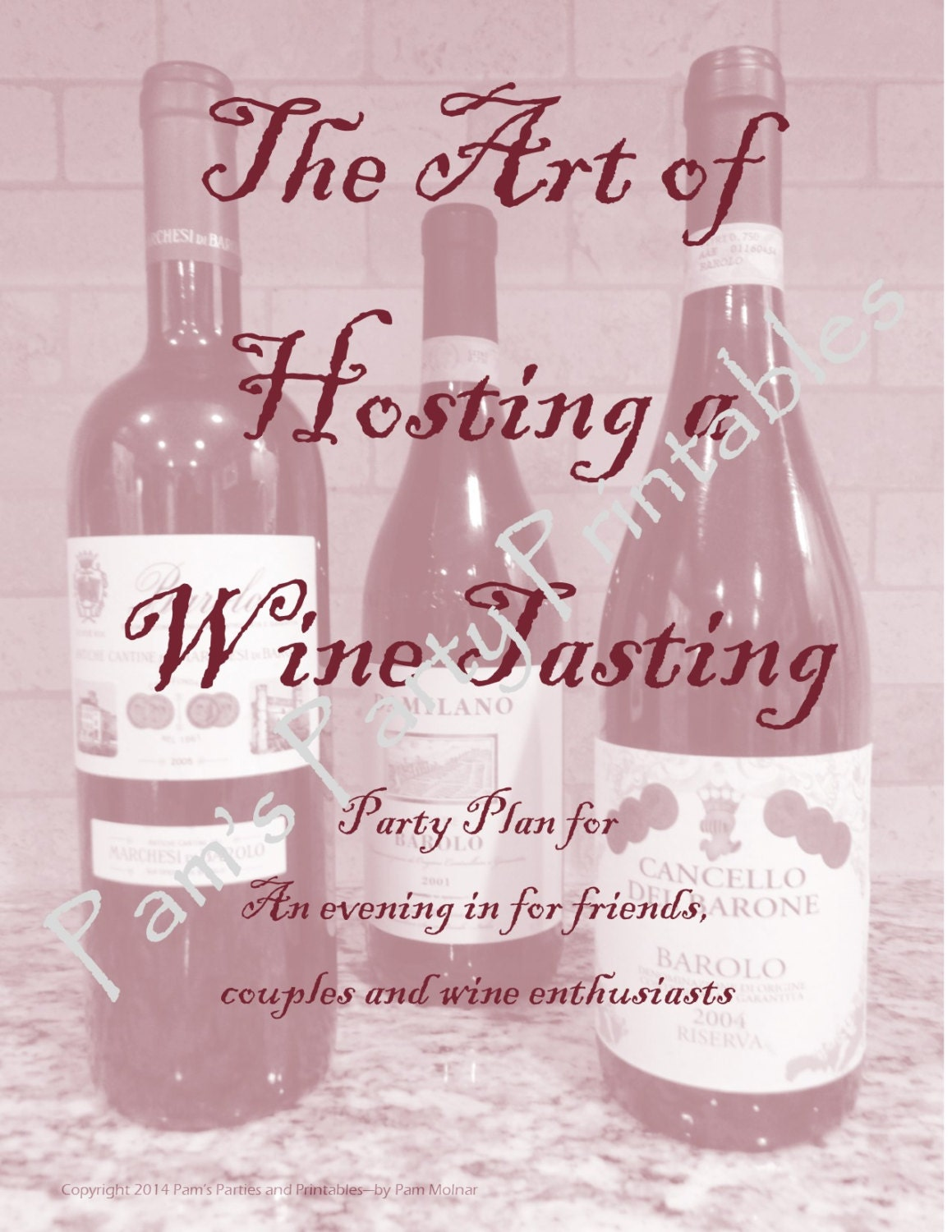 The Art Of Hosting A Wine Tasting Instant Download