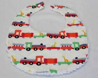 Cotton Bib| baby feeding bib |Trains|