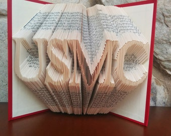 USMC - Folded Book Art - Fully Customizable, Military, Marine