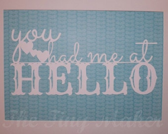 You had me at HELLO Paper-Cut