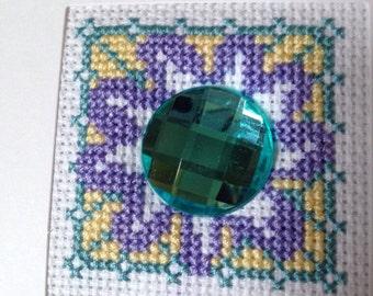 Handmade Cross Stitched card