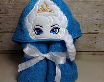 Frozen Elsa Hooded Towel Etsy