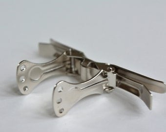 """Set of 20 Metal Bow Tie Clips - 2 3/4"""" Bow tie hardware"""