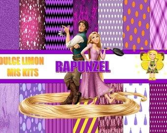 more clipart digital papers kit Rapunzel !!!!!