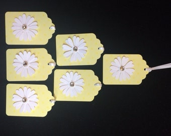 Yellow Daisy Gift Tags - Set of 6