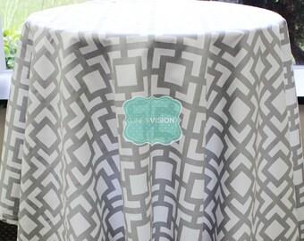 Tablecloth - Premier Prints - GIGI - Storm Grey - Choose Your Size - Table Linen Wedding Home Decor Dining Kitchen