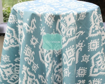 Tablecloth - Premier Prints - RAJI Damask - Regatta - Choose Your Size - Table Linen Wedding Home Decor Dining Kitchen