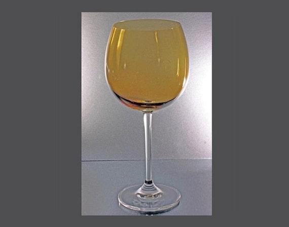 Lenox crystal wine glass amber balloon - Lenox colored wine glasses ...