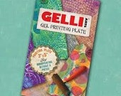 Gelli Arts Printing Plate 3 x5 inches for monoprinting and spontaneous creative play