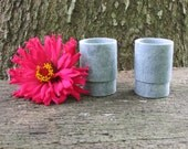 1 Pair Straight Sided Soapstone Shot cups. Hand turned from Virginia Soapstone.