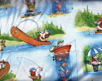 Its A Guy Thing Fishing Curtain Valance