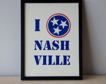 I Love Nashville - Canvas Print