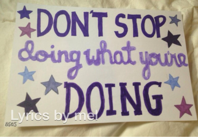 Don't Stop: 5SOS lyric art by lyricartbymel on Etsy
