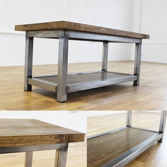 Mild Steel Coffee Table: Wadsworth Industrial Oak And Steel Coffee Table