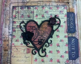 Scrapbook Mini Album Canvas