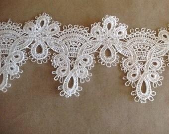 Crochet white.