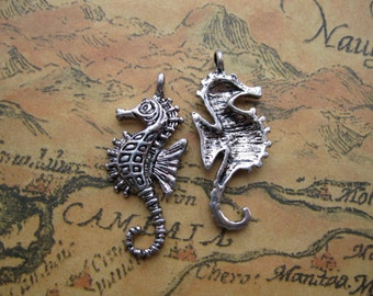 20pcs 12x30mm Antique Silver Lovely Hippocampus Charms Sea Horse Pendant A