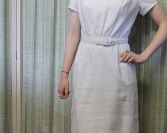 Amazing 195's Linen Collared Dress