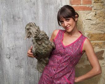 Léontine Dress/ Liberty Dress/House Dress/Pink floral Dress