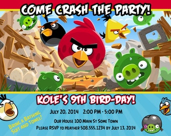 Angry Birds Birthday Invitation - PRINTABLE!