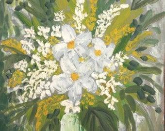 European art oil painting still life flowers