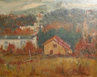 European art oil painting landscape 1979 signed