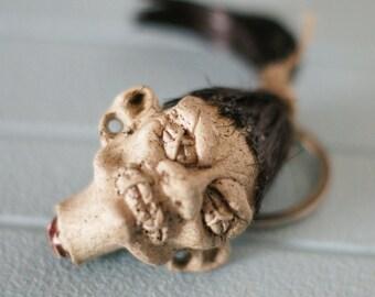 Shrunken Head Keychain