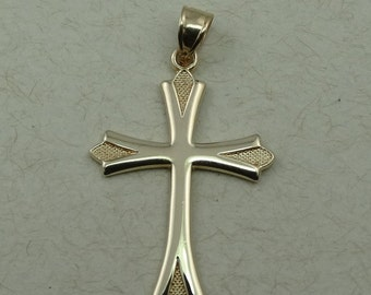 Vintage Simple 14K Yellow Gold Cross Pendant  #SIMPLE-XP2