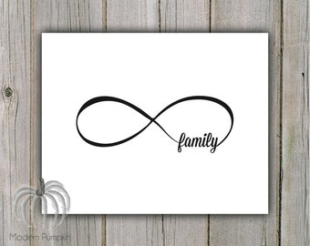 "Infinity Family Printable - Instant Download - 8"" x 10"""
