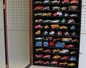 Hot Wheels 1:64 Matchbox Car Display Case Cabinet Wall Rack, Kid-Safe Door