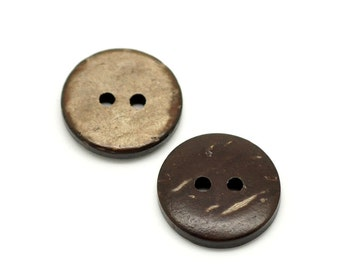 """100PCs Brown Coconut Shell 2 Holes Sewing Buttons Scrapbooking 15mm(5/8"""")Dia"""