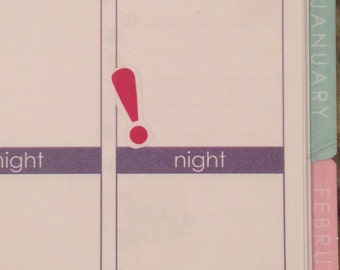 Exclamation Point Stickers for Erin Condren Planner