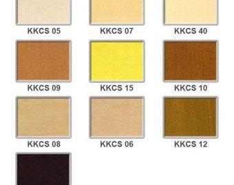 Cotton silk - creams, yellows and browns 5 pounds a metre