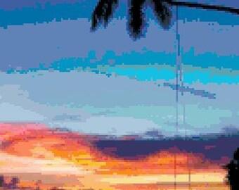 Sunset Swing Cross Stitch Pattern
