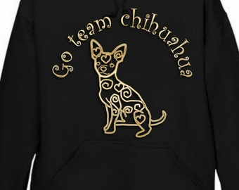 chihuahua short coat hoodie made to order design and  wording