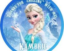 Disney Frozen tag, Elsa tag, Elsa sticker, Frozen favor tag, Elsa frozen, Frozen sticker, Elsa, Frozen Birthday, Frozen Party, DIY,  002