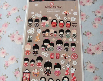 Lovely Japanese Kokeshi stickers/korean stickers/cute sticker/Kawaii sticker