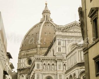Travel Photography Europe Wall Art Print - Duomo Skyline, Florence - Italy